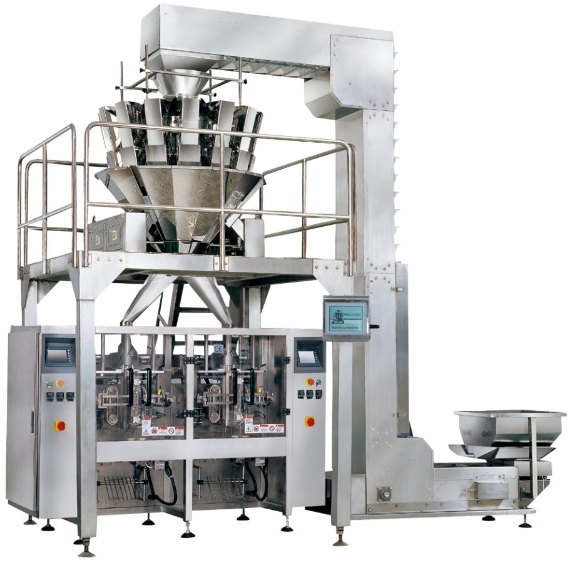 vertical form fill seal machine with 10 heads combination weigher