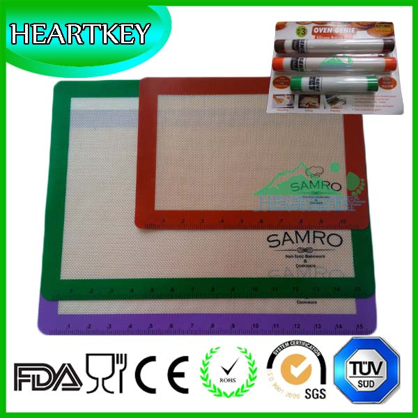 Factory Lowest Price Super Quality 3pcs Silicone Non-stick Baking Mat Set