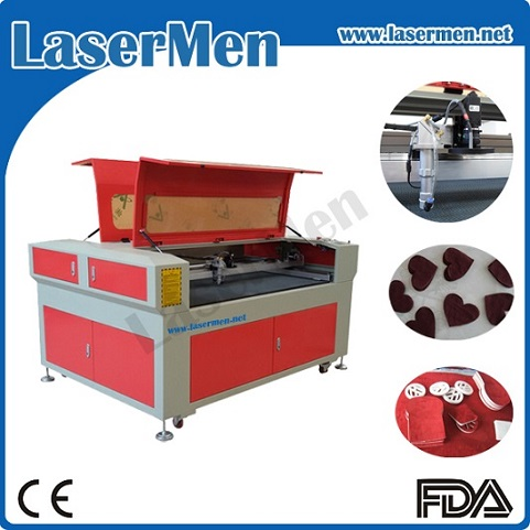 CCD System Cloth Fabric Textile Laser Cutter / Leather Laser Cutter Engraver LM-1290