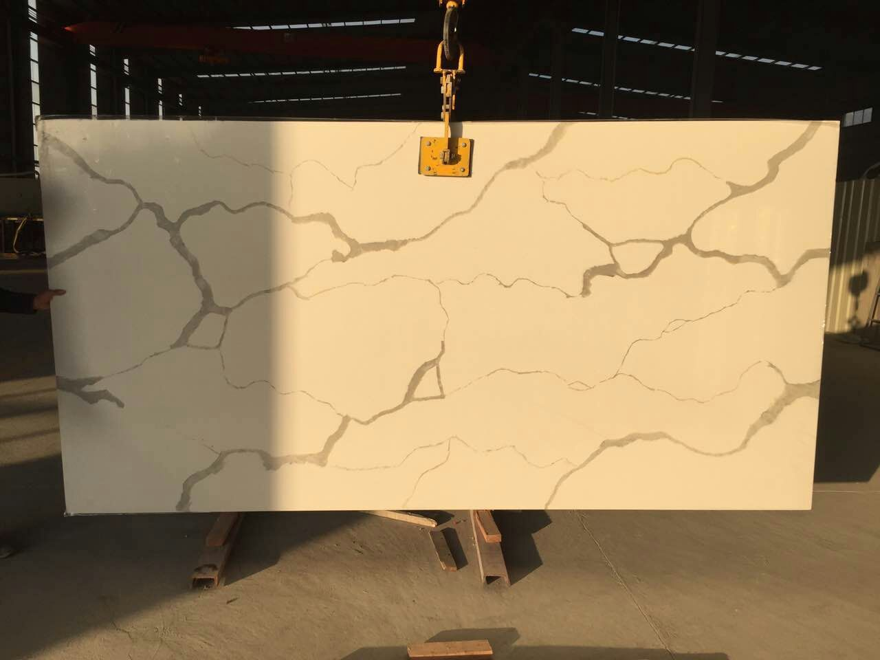 Bst Calacatta Gold Corian Stone Slab For Pre Fabricated Tops