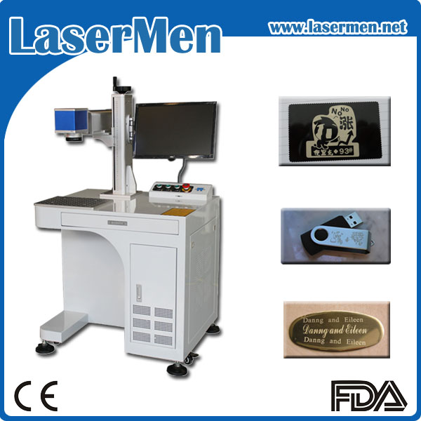 mini size desktop metal laser engraving machine / fiber laser marking machine LM-20