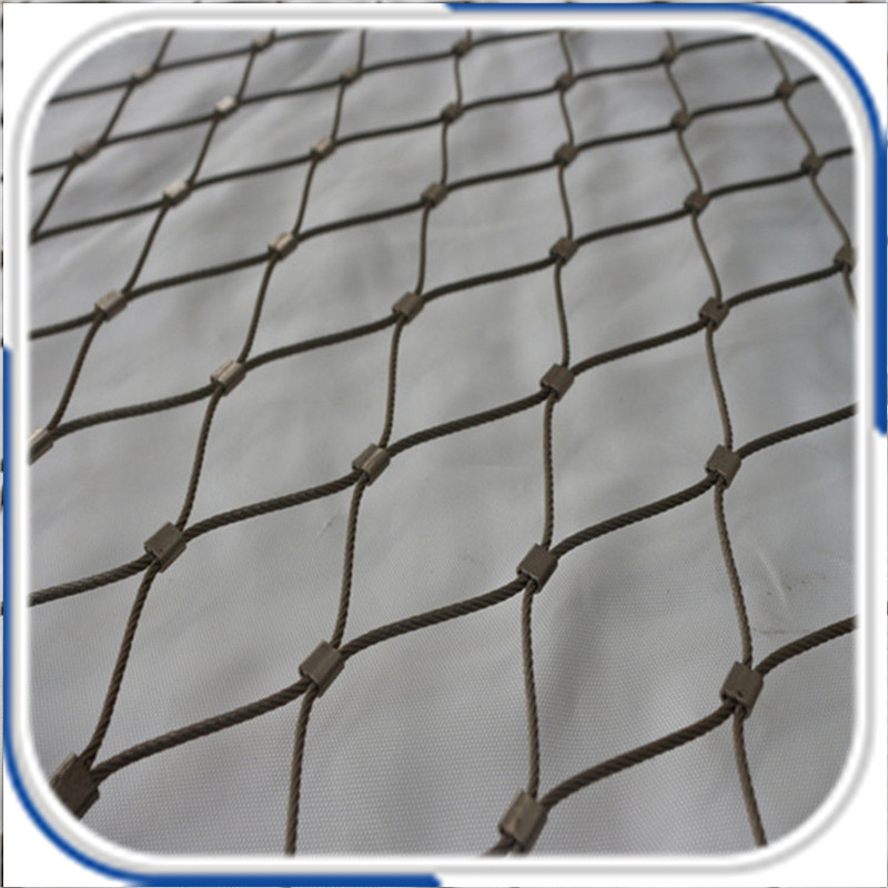 Stainless steel flexible wire rope mesh used as balustrades security mesh