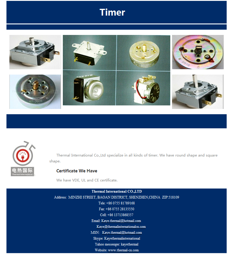 Mechanical Countdown Timer With Cde Certificate Purchasing Souring