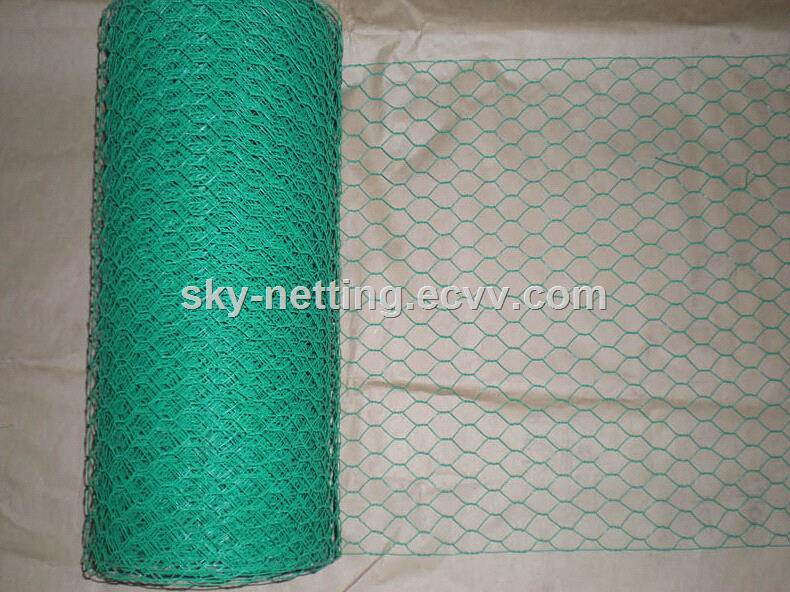 green PVC Coated Hexagonal chicken Wire Mesh purchasing, souring ...