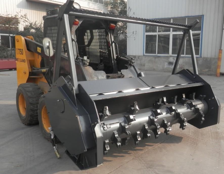 skid steer bobcat loader forestry mulcher attachment from