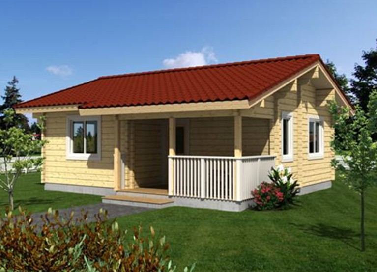 Natural Design Wooden Villa House India Price From China