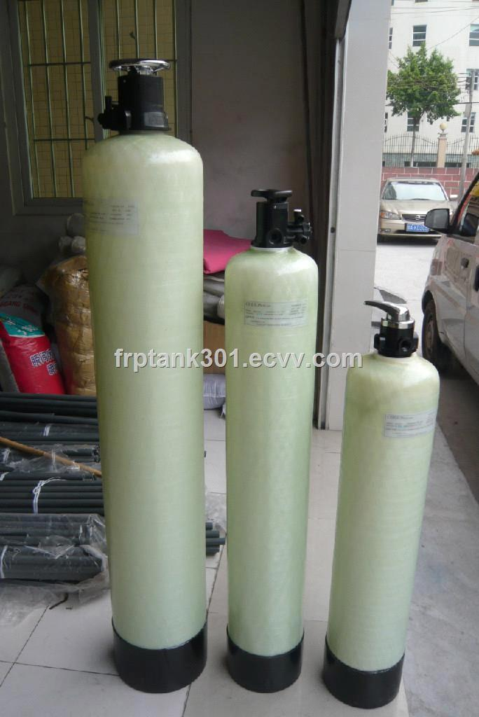 FRP storage water treatment fittings tank in china