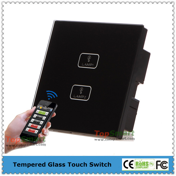 UK Standard Wifi Remote Control RF Light Touch Wall Switches