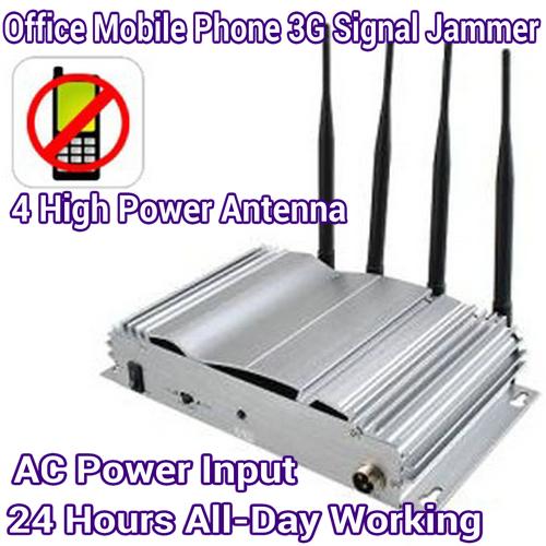 4 Antenna High Power Home Office Prison Mobile Phone GSM CDMA 3G Signal  Jammer Blocker 30M Range