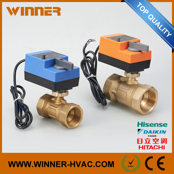 DC24V Brass Ball Valve with Electric Actuator