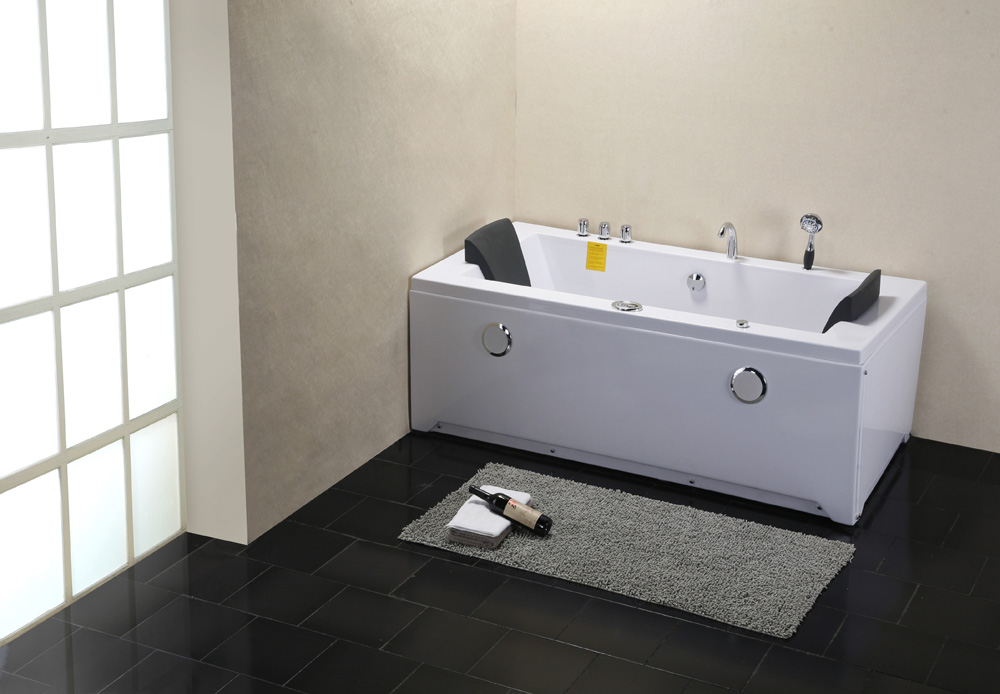 Captivating Double Apron Bathtub Massage With Self Cleaning Function