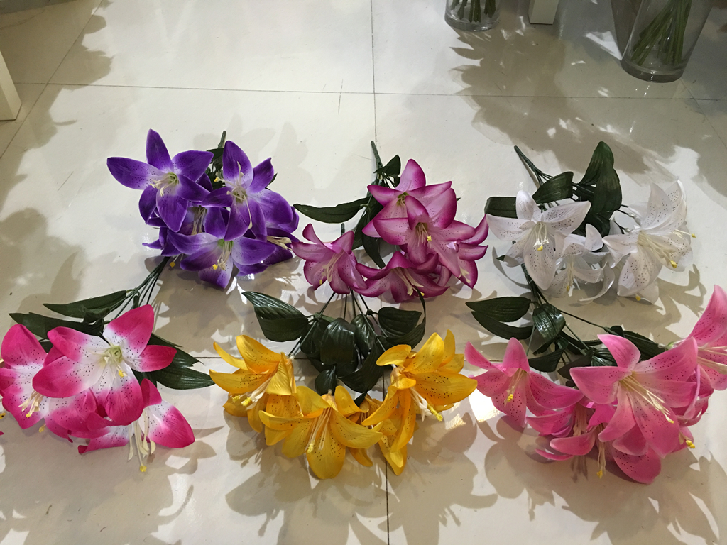 Artificial Flower Blue Lily Purchasing Souring Agent Ecvv