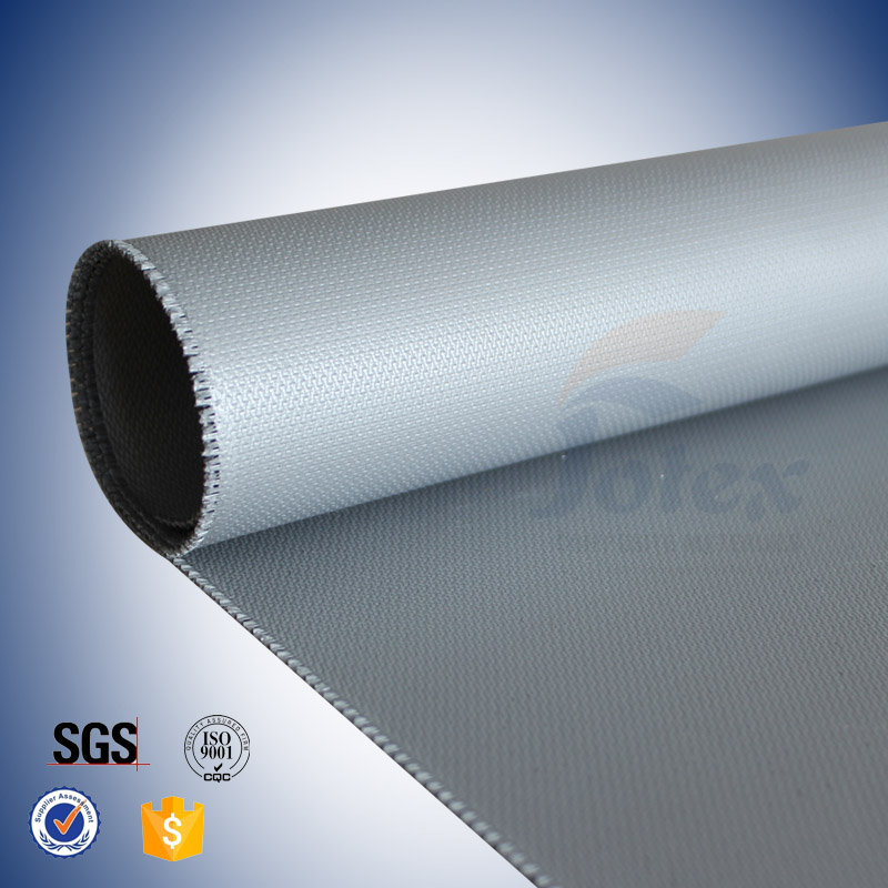 0 44mm silicone coated giberglass fabric for engineer thermal insulation