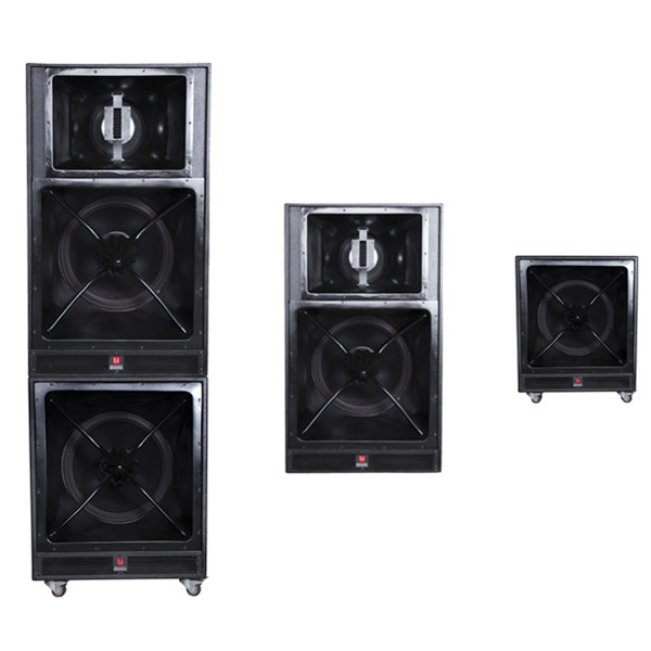 Dual 18 Four Way Speaker System Long Throw Sound Bass Speaker