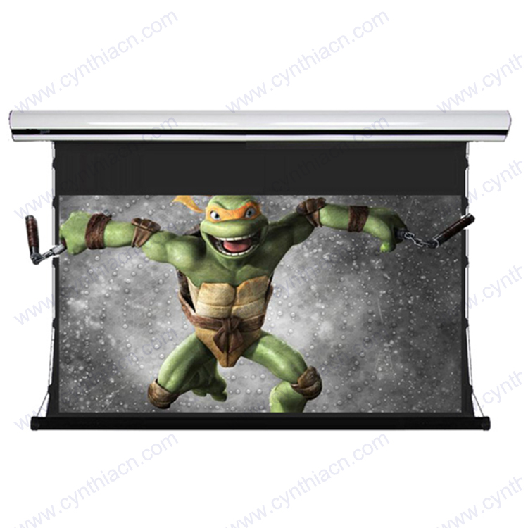 Tab Tension Motorized Projector Screen With Soft PVC Fabric ...
