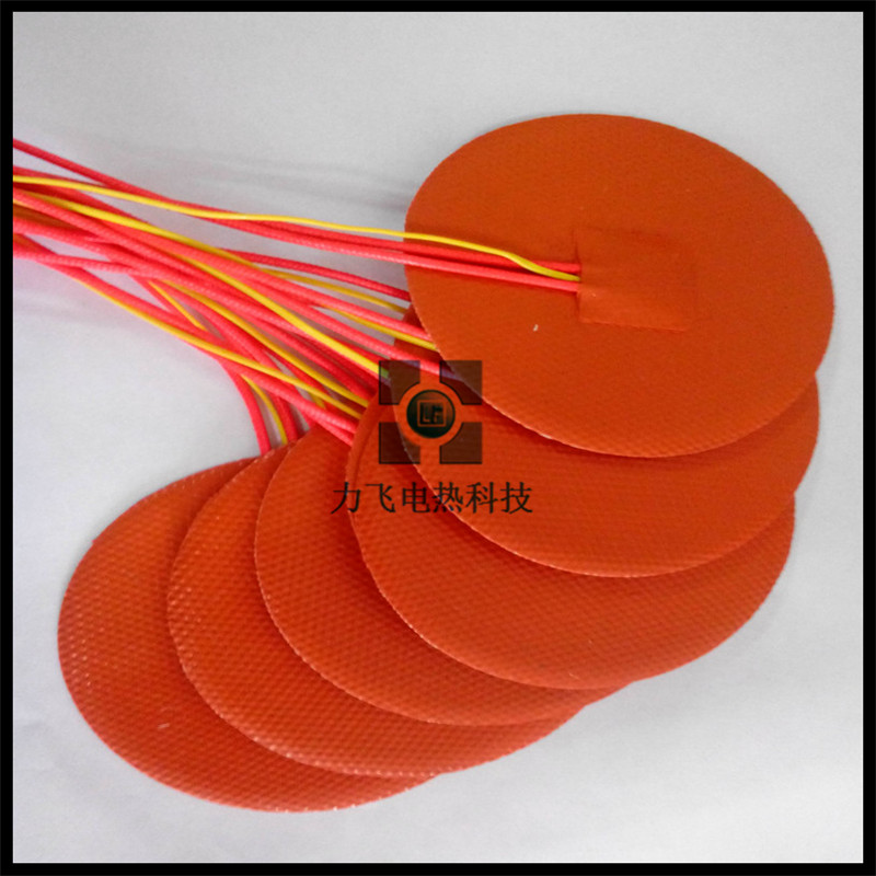 custom round flexible silicone rubber heater