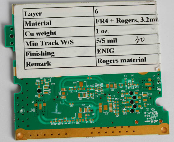 Custom fr4 multilayer HAsL board pcb