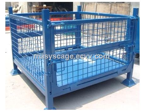 Warehouse Collapsible Steel Welding Wire Mesh Pallet Cage