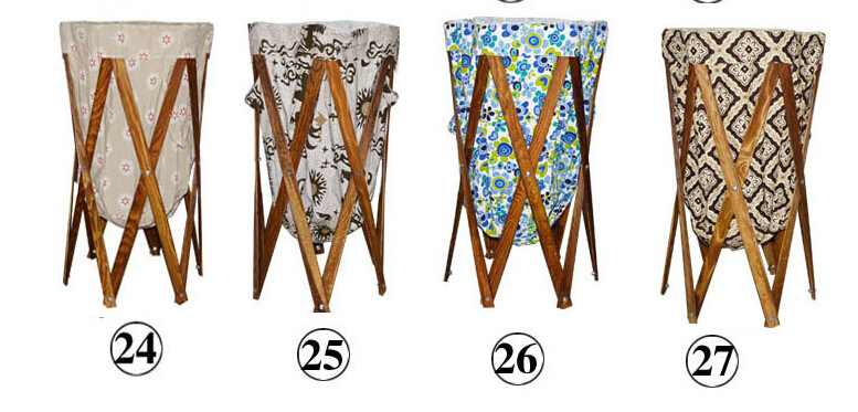 Chic foldable laundry baskets