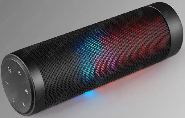 Hight Quality 16W Cylindrical  LED Flashing Stereo Bluetooth Speaker