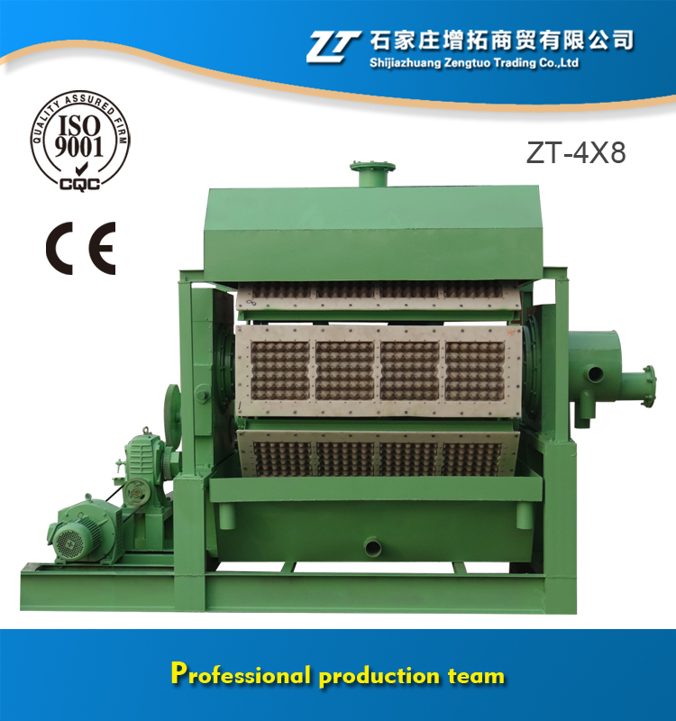 Large Capacity 3000-6000 pcs/hr Egg Tray Processing Machine / egg tray making production line