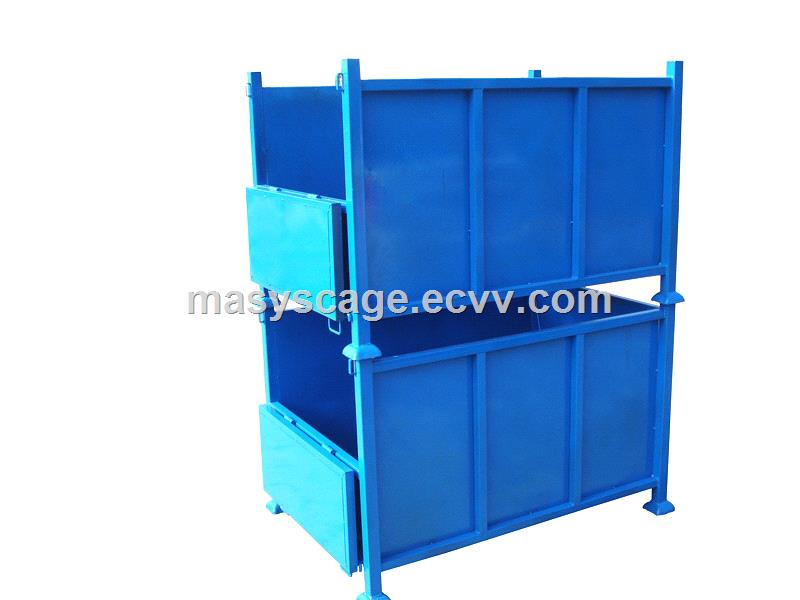 Foldable Steel Pallet Crate/Storage Collapsible Metal Box/Bin