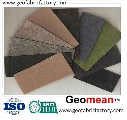 350gsm Staple PET/PP needled punched non woven geotextile