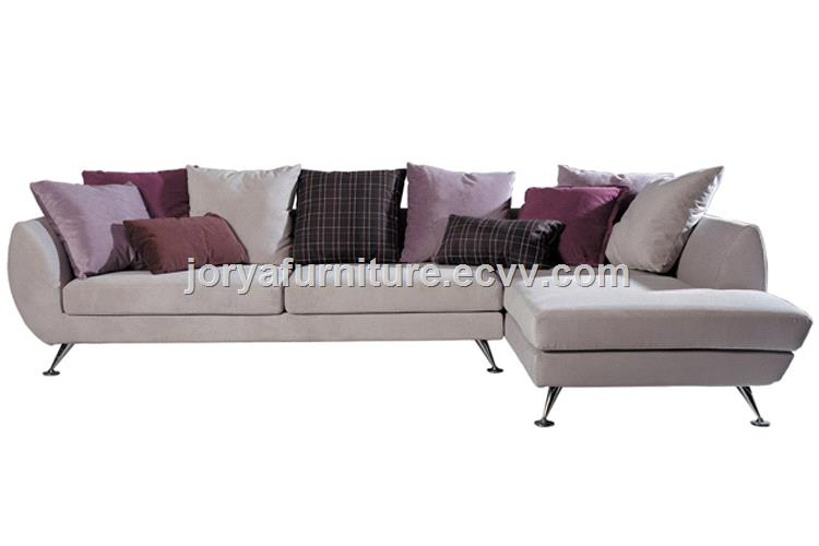 Modern living room L shaped sofa corner leather sofa counch sofa ...