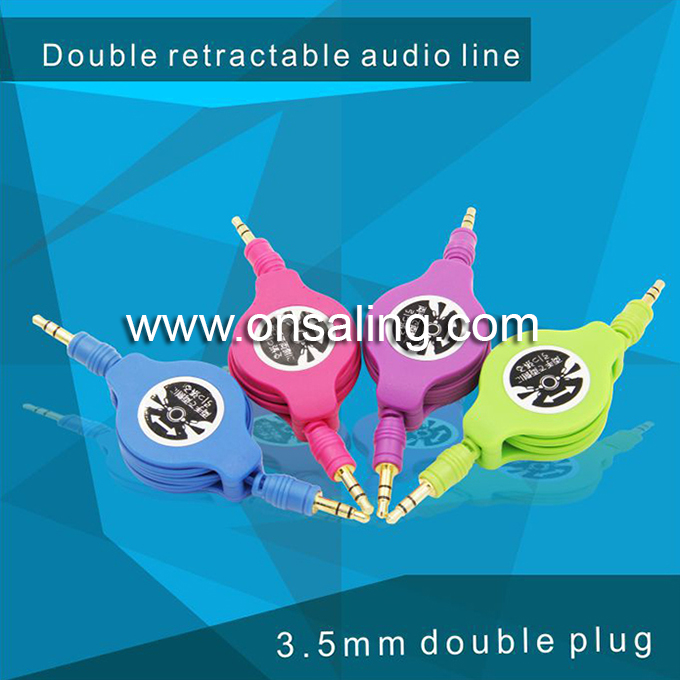 retractable male to male 3.5mm audio cable