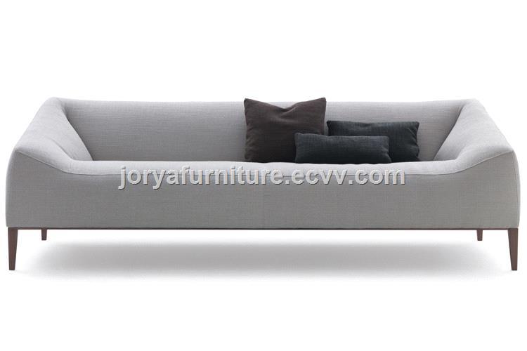 Modern High Quality Fabric Two-Seat Sofa Leisure Sofa Real Leather Sofa  Office Sofa