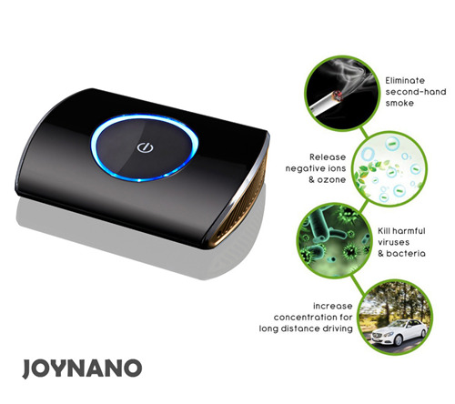 JoyNano Car Air Purifier Box HEPA Vehicle Air Cleaner Ionizer Oxygen Bar