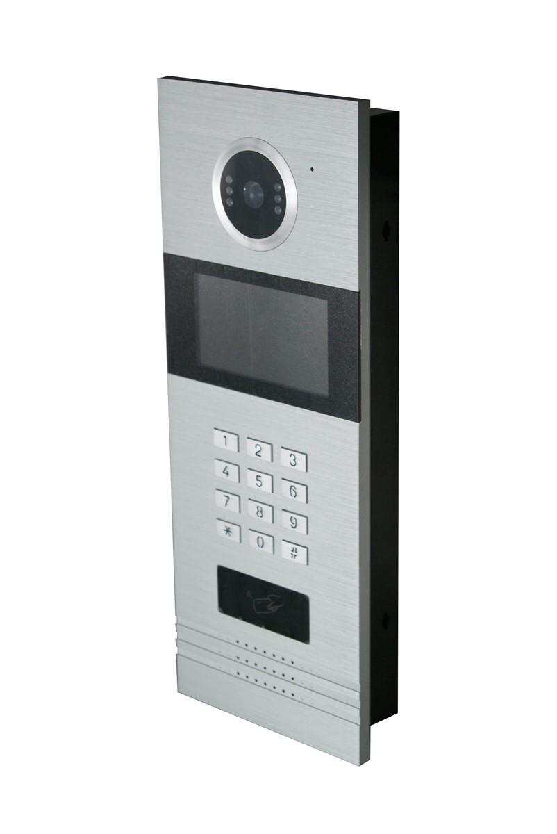 Multi apartments home security intercom system TCP/IP video door ...