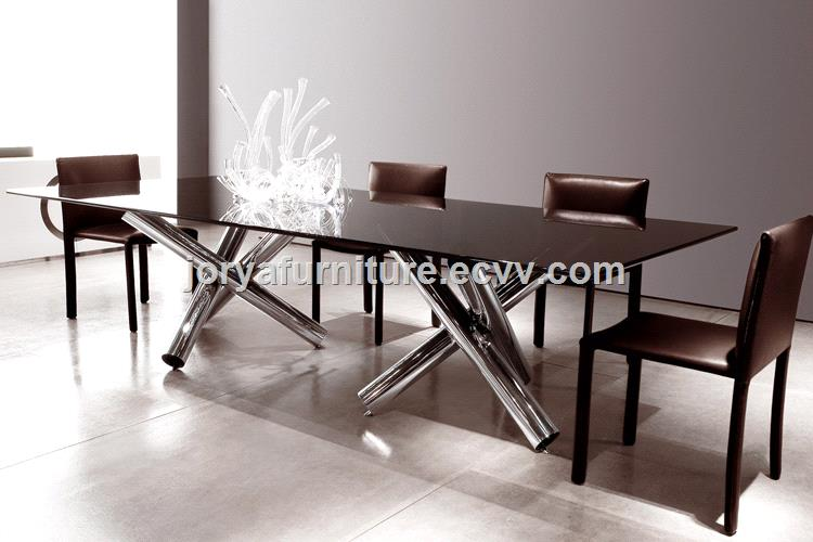 Modern Rectangle Dining Table MarbleTempered glassWooden Top table