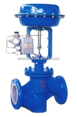 pneumatic actuator single-seat regulating valve