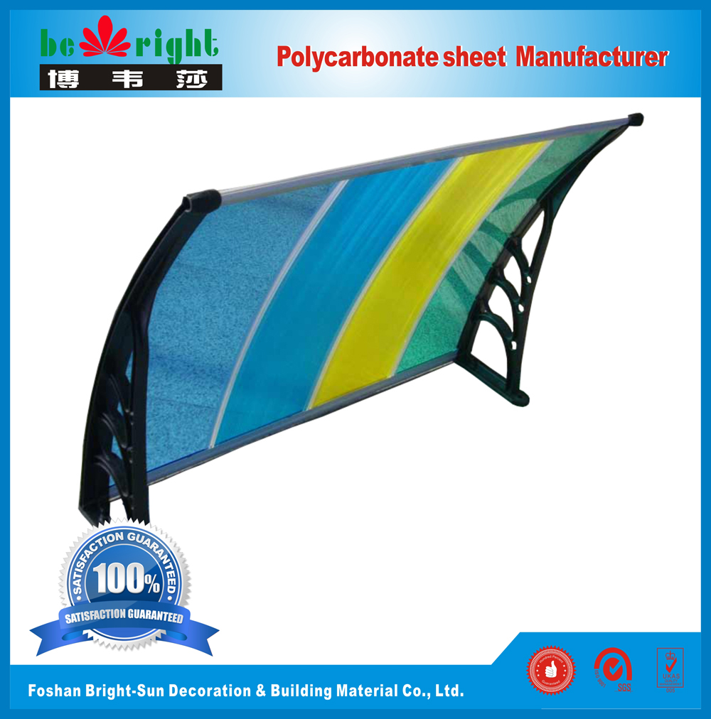Plastic Bracket Bright-Sun Polycarbonate Awning Canopy & Rain Shielter /  Tent