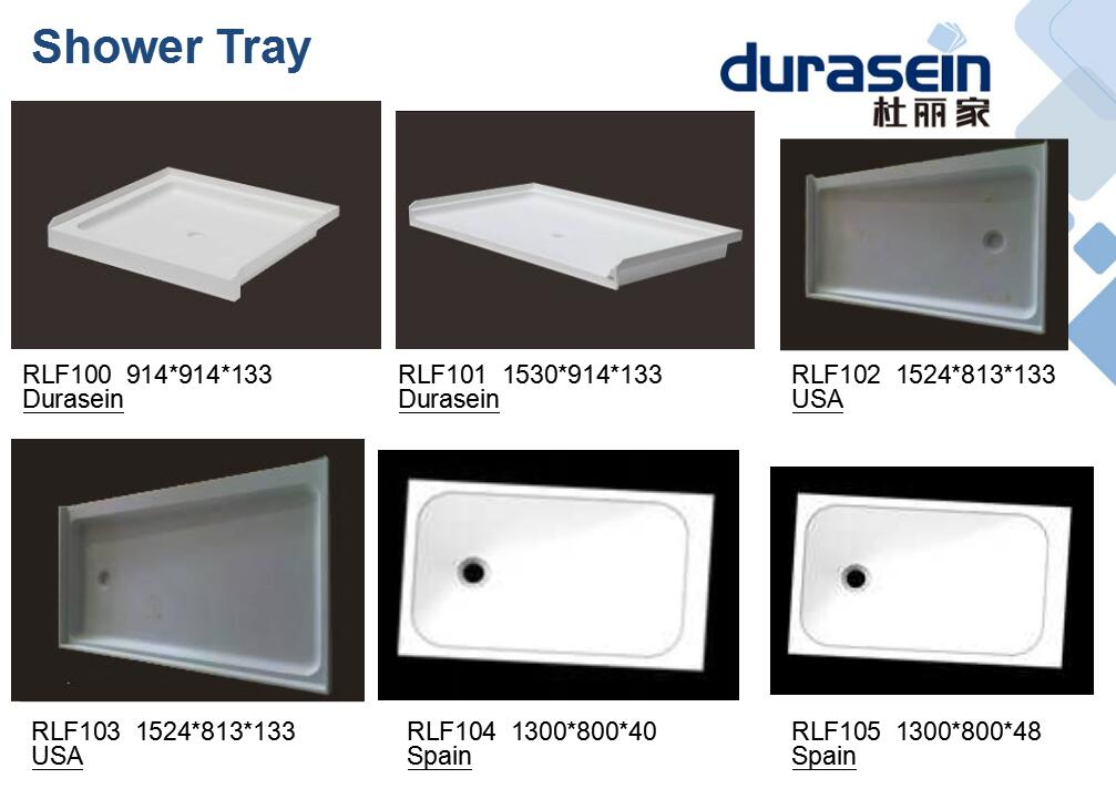 Acrylic Solid surface shower base tray