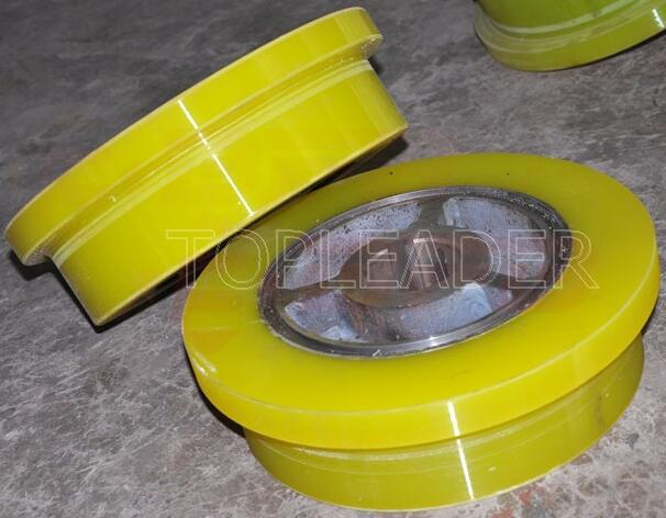 Heavy duty 300mm industrial plastic caster wheel rubber wheel