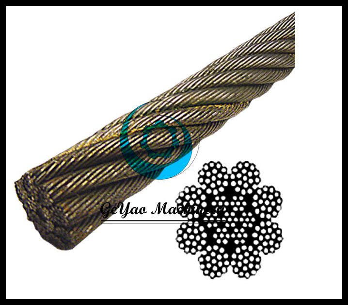 Bright Wire Rope EIPS IWRC 8x19(Rotation/spin Resistant)
