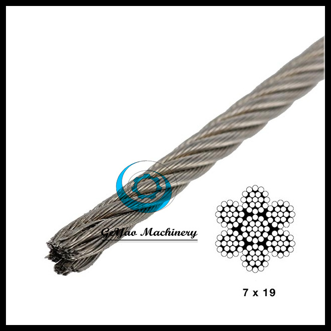 Stainless Steel Cable - 7x19 Aircraft Cable Type 316
