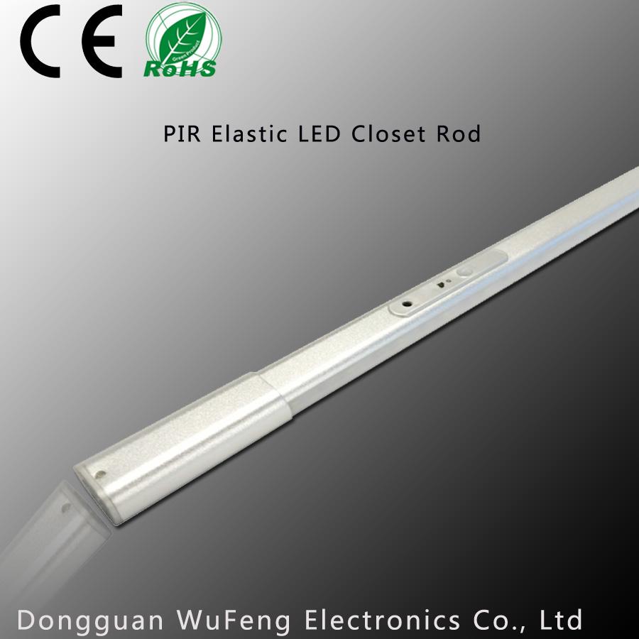 Elastic Fir Different Size Wardrobe LED Closet Rod