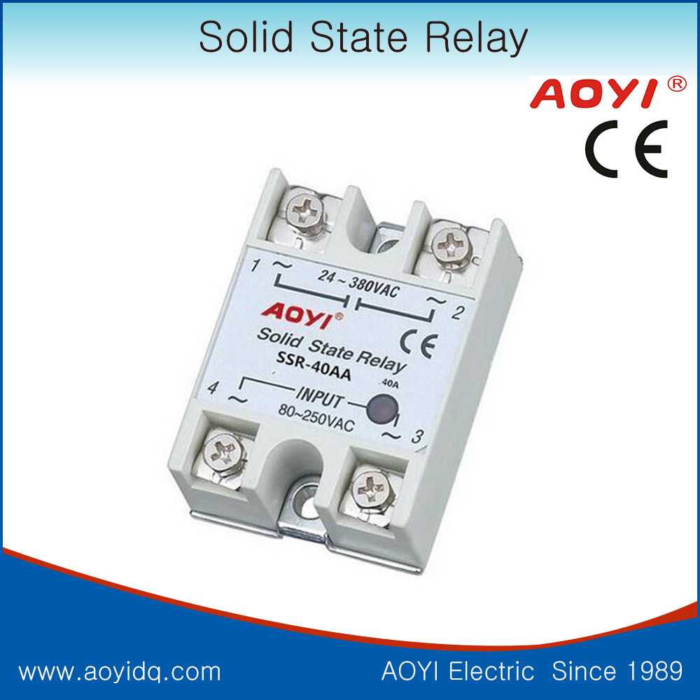 Ssr 40aa Ac 24 380v Solid State Relay For Pid Temperature Controller Voltage