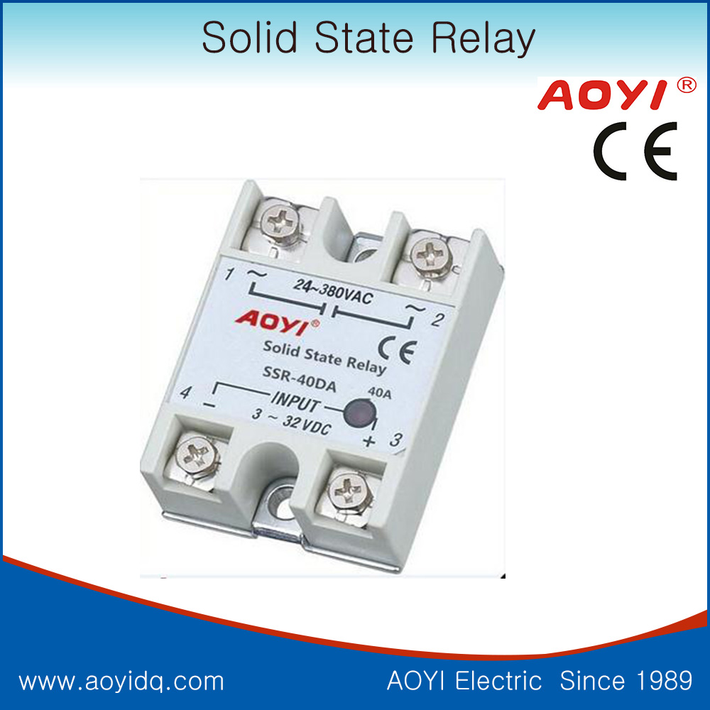 Ssr 40da Zero Crossing Control 3 32v Dc Output 24 380v Ac Single Solid State Relay Schematic