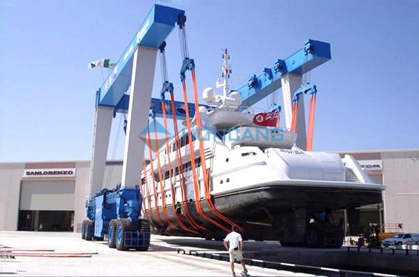 Marine hoist jib hoist boat transporter