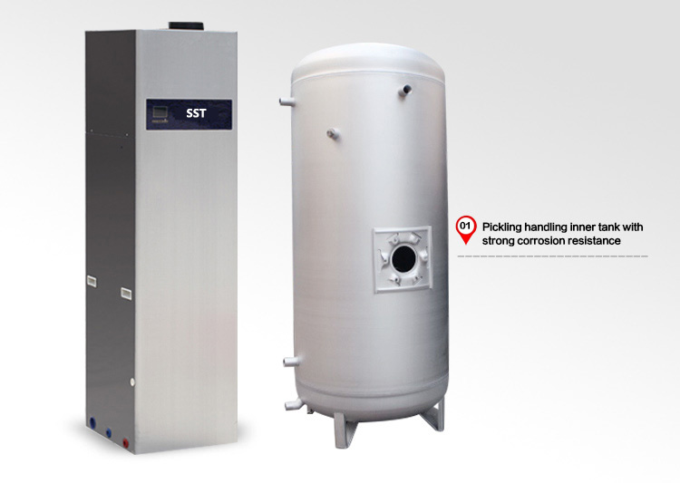 SST hot water storage tank for solar system or heat pump or boiler ...