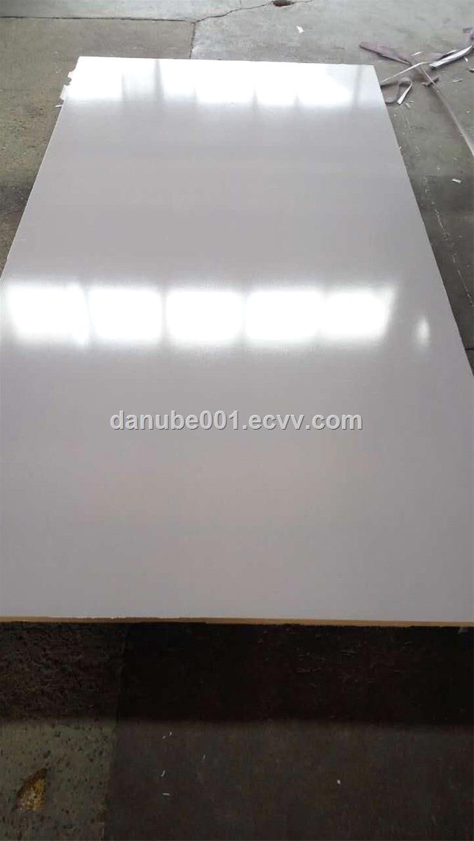 BRUSERSTANG Melamine Faced MDF Board  HIGH GLOSSY  TITANIUM WHITE COLOR