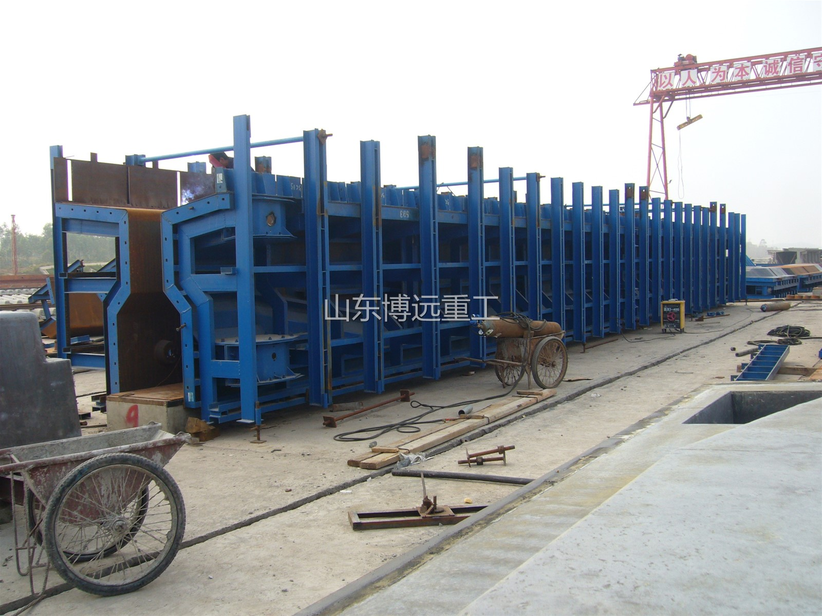 T-Beam formwork for bridge construction precast T girder moulds