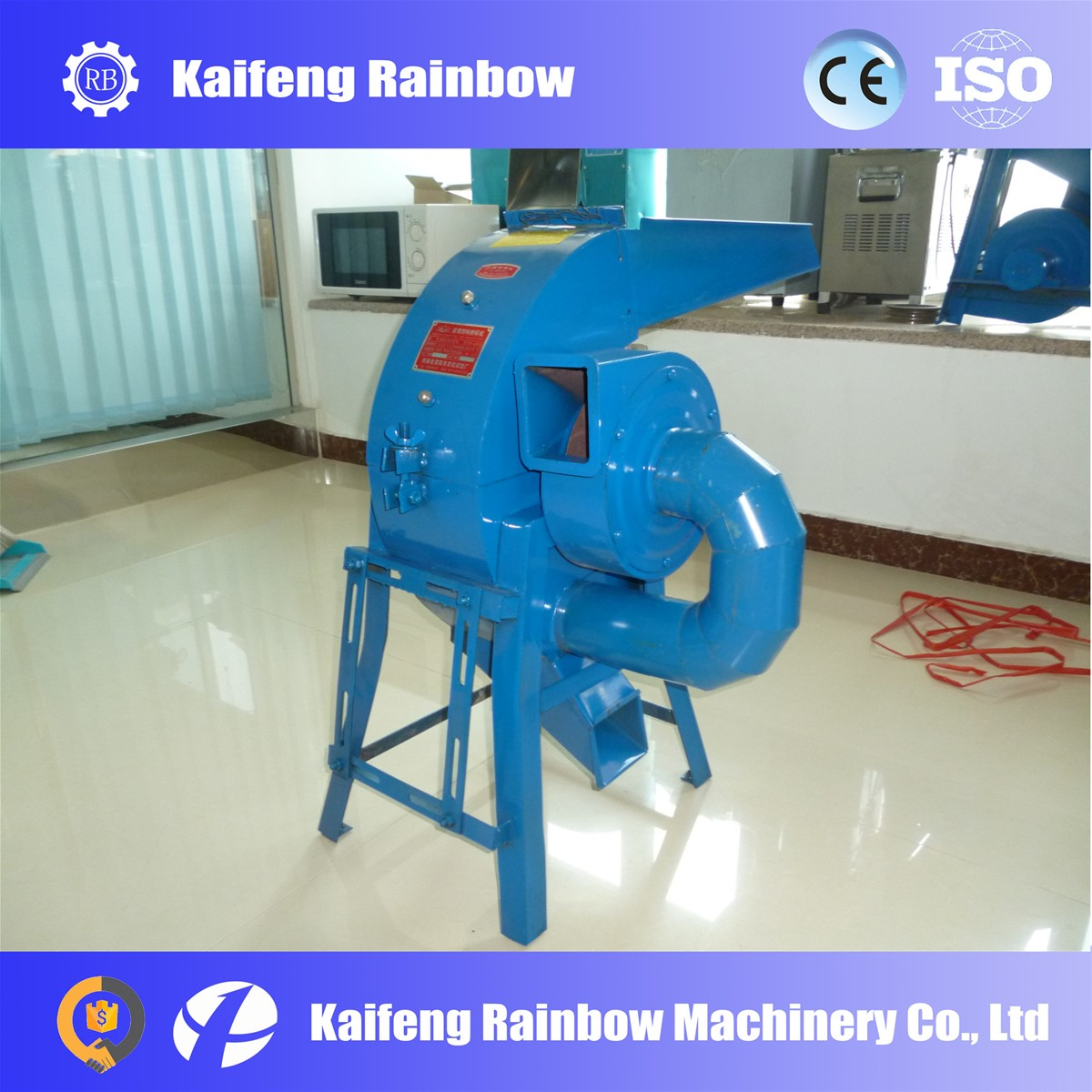 Hammer-shape animal feed corn crusher machine for farm