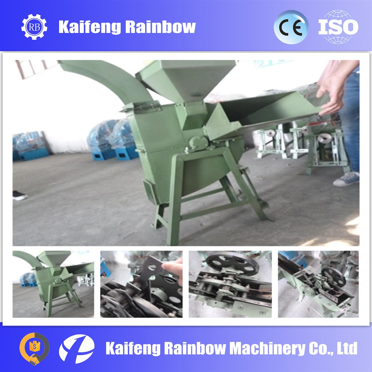 blade electrical Ensilage crushing machine for farm