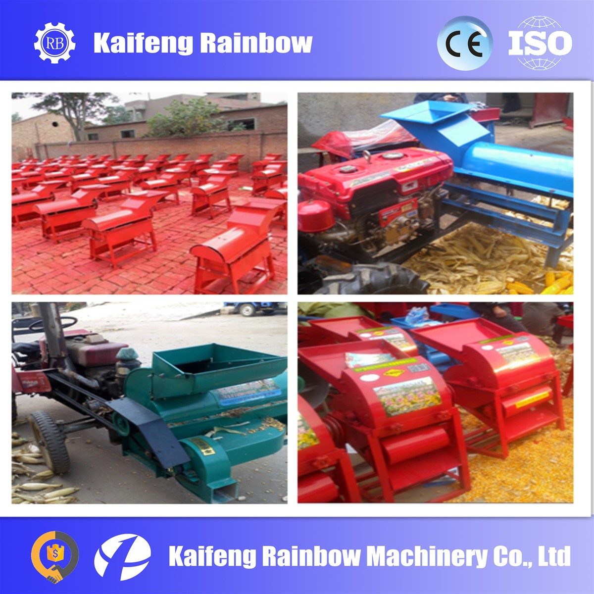 multiple spindle roller corn peeling thresher machine for farm