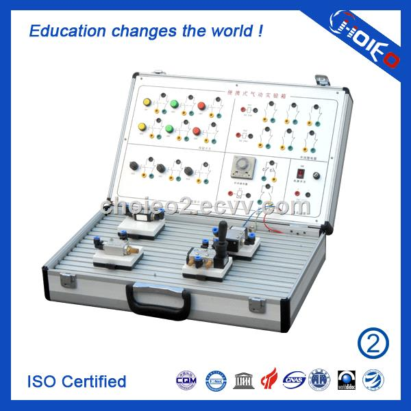 Portable Electro Pneumatic Experiment Box,technical educational trainer